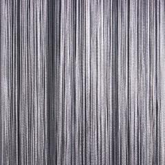Нитяные шторы кисея (темно-серый)