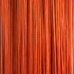Нитяные шторы кисея (терракот)