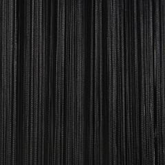 Нитяные шторы кисея (черный)