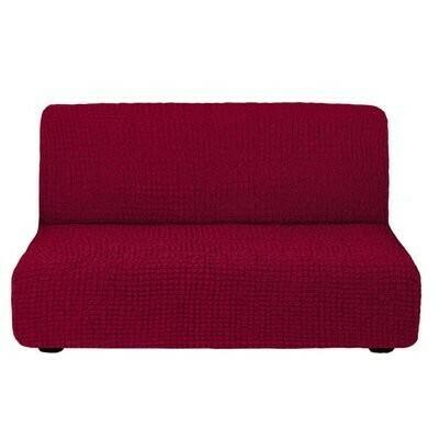 Чехол для дивана без подлокотников (бордо)