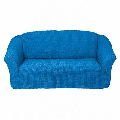 Чехол на четырехместный диван без оборки (голубой)