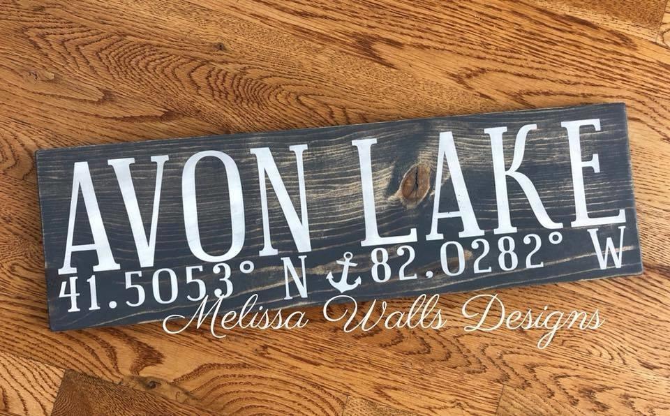 Avon Lake Coordinates avonlakewoodsign