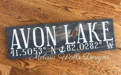 Avon Lake Coordinates