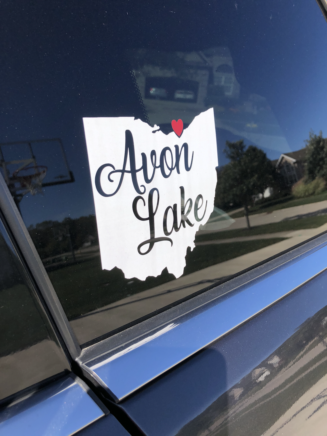Avon Lake State with heart Car Decal