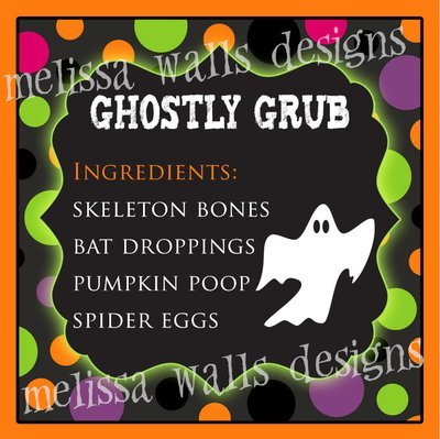 Ghostly Grub Bag Tags