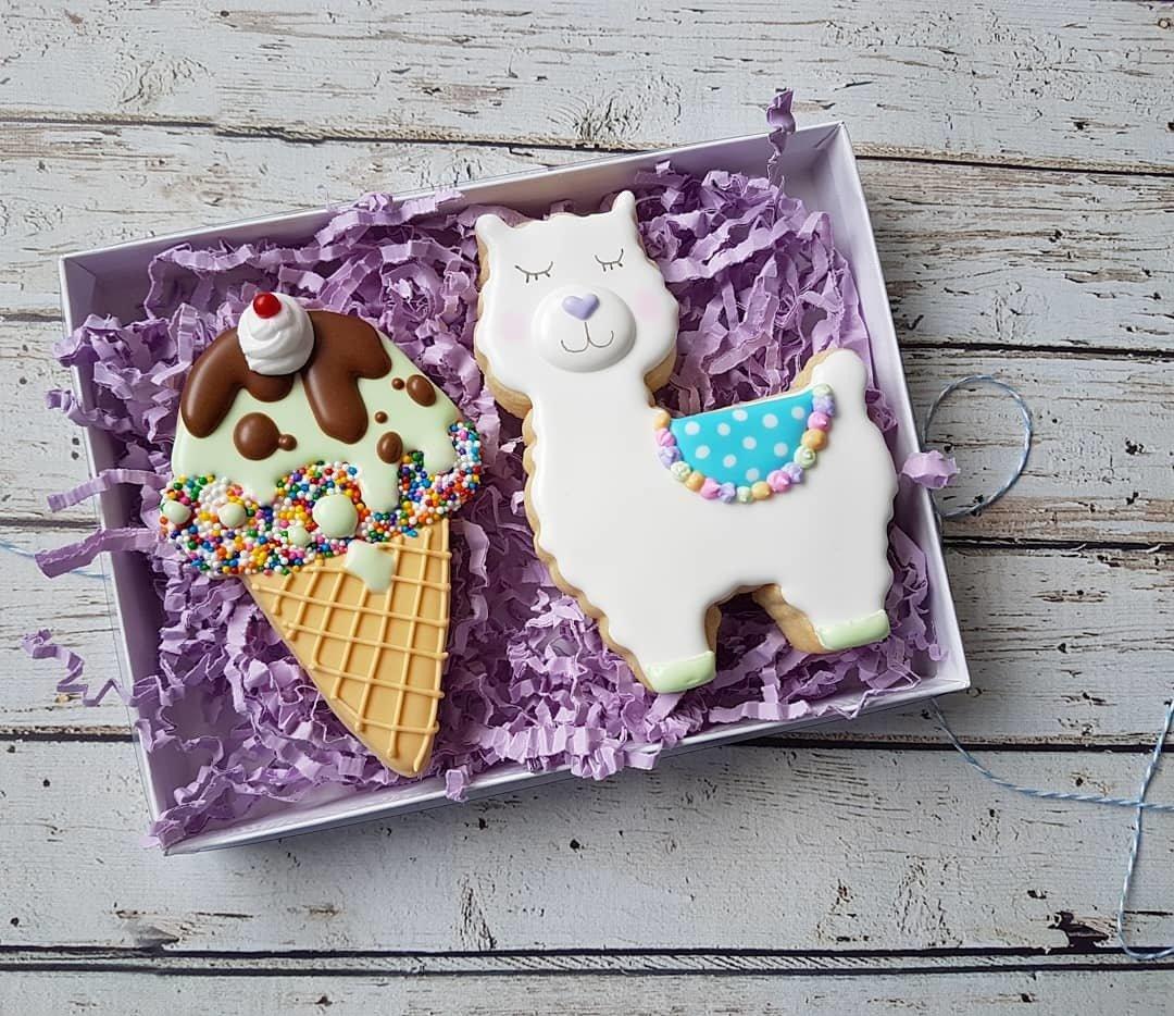 Ice Cream Cone & Llama 00003