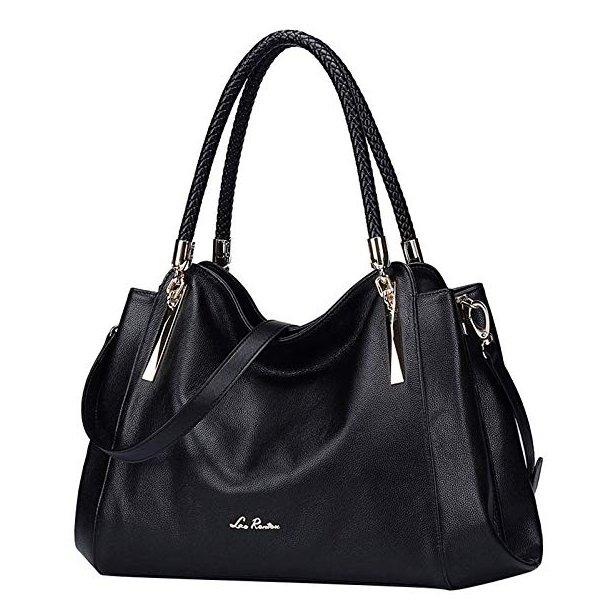 8156533c11cd Сумка жіноча шкіряна через плече чорна/чорного кольору Laorentou, Designer