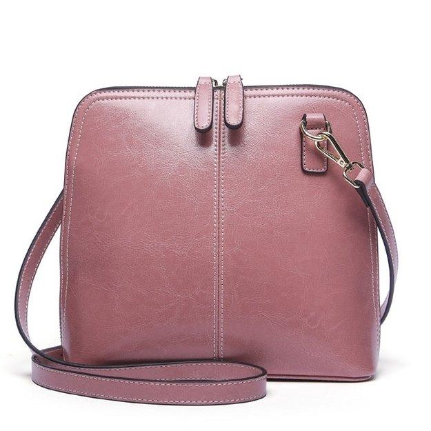 Сумка жіноча шкіряна через плече рожева рожевого кольору Esufeir c3f635d628082