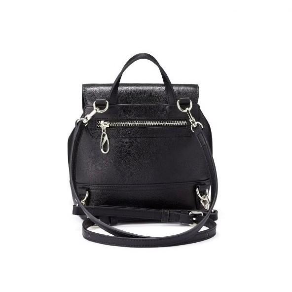 d64952cf7e0507 Рюкзак жіночий чорний шкіряний Laorentou, Designer heart
