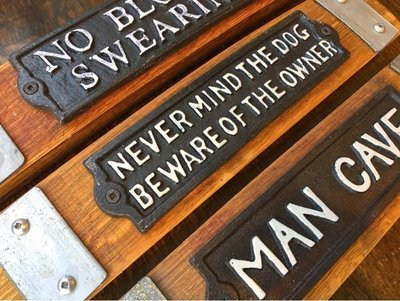 Metal Stave Signs