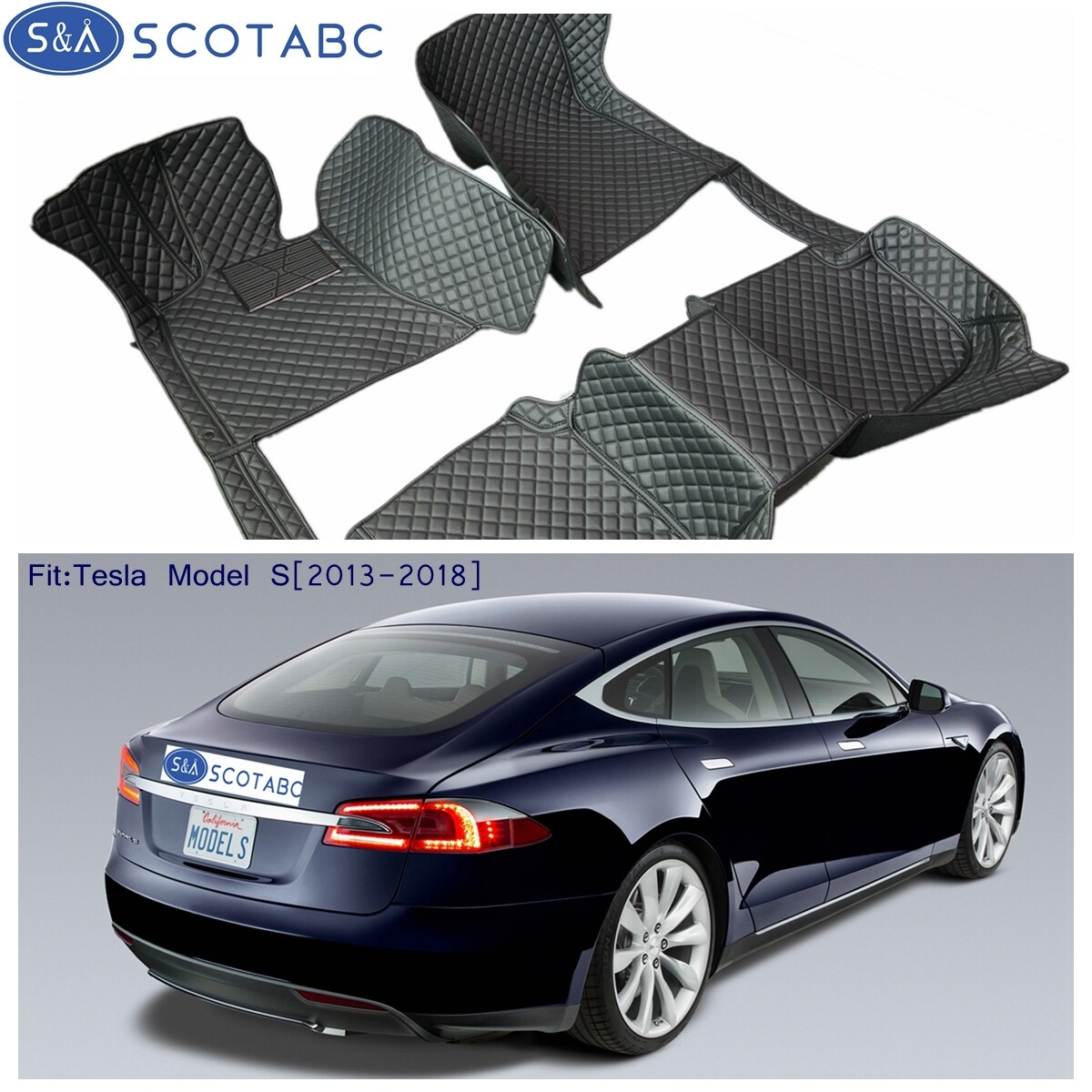 Details about   Fit For Tesla 3 2017-2018 luxury custom waterproof floor mats