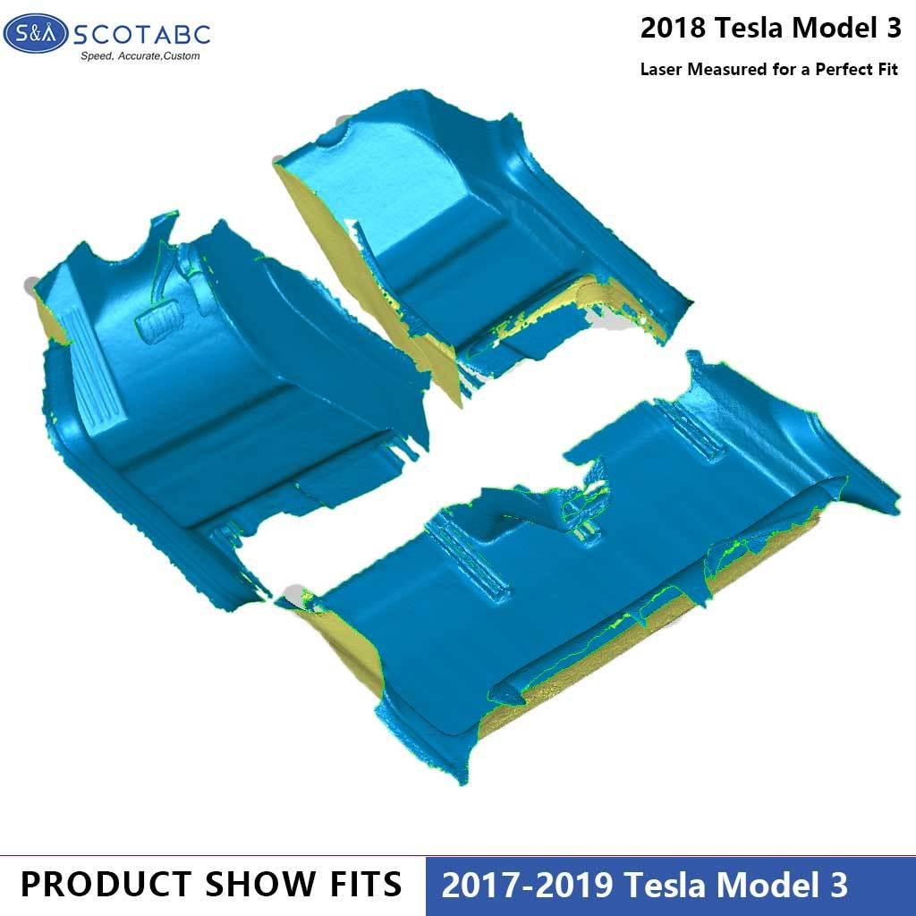 Tesla Model 3 Car Floor Mats Liners 1Set Carpets
