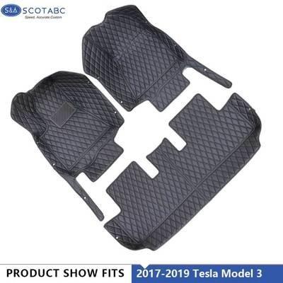 Tesla Model 3 Floor Mats 2017 2018 ,All Weather Waterproof  Carpets 1Set