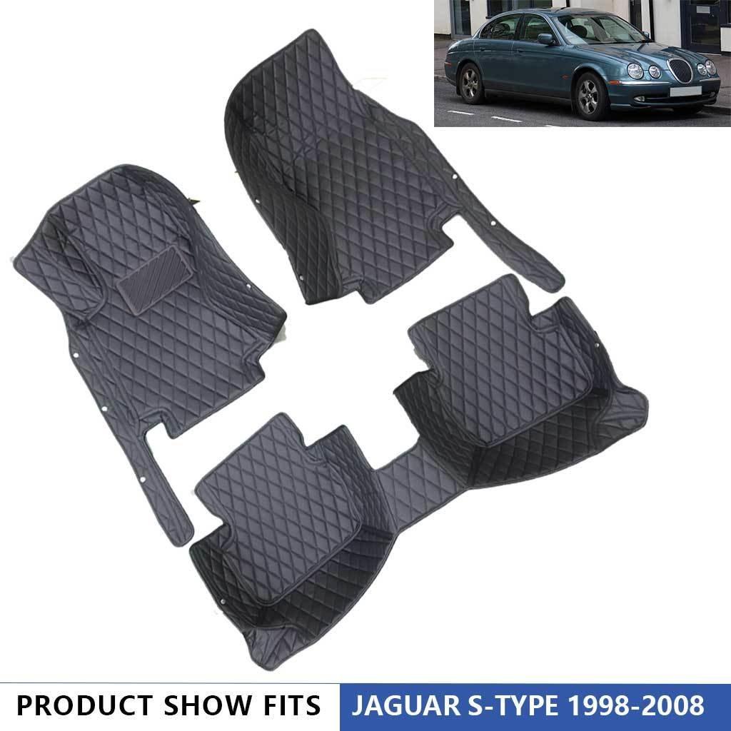 SCOTABC Car Floor Mats Floor Liner Fit for Jaguar S Type 1998-2008,All Weather Waterproof Carpets