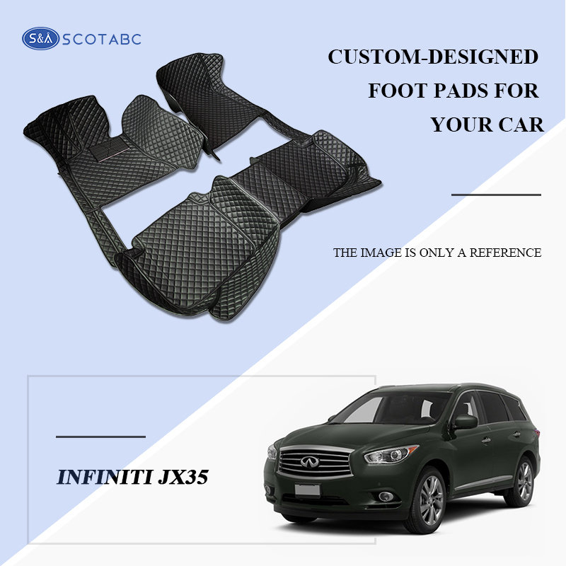 Scotabc Custom Car Floor Mats Floor Liner Fit For Infiniti JX35 2012–2013,All Weather Waterproof Carpets