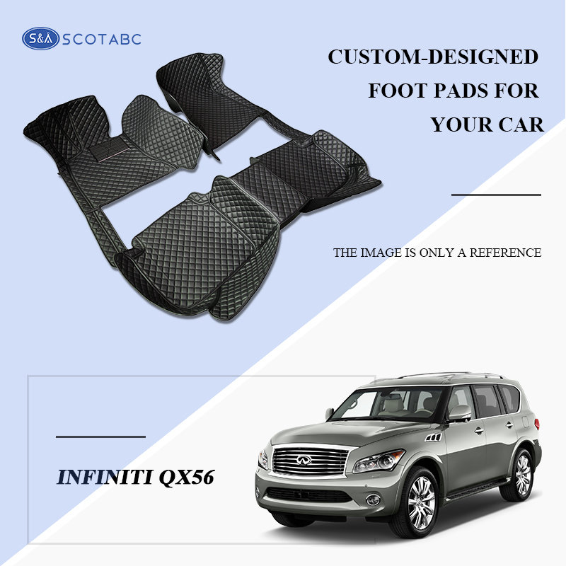 Scotabc Custom Car Floor Mats Floor Liner Fit For Infiniti QX56 (JA60 2004–2010) All Weather Waterproof Carpets