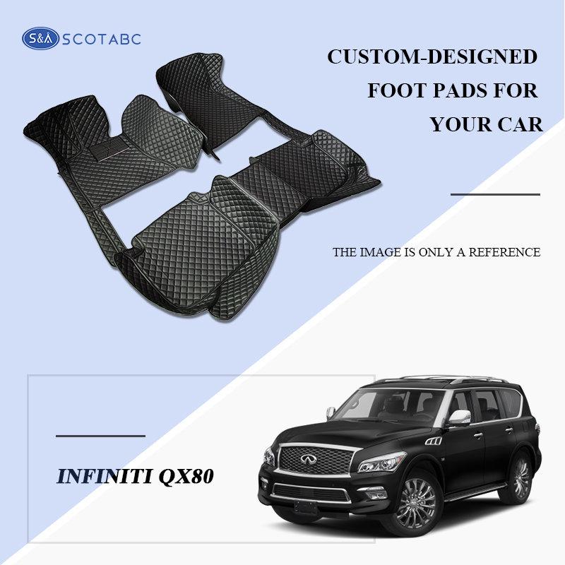 Scotabc Custom Car Floor Mats Floor Liner Fit For Infiniti QX80 Z62 2014–present All Weather Waterproof Carpets