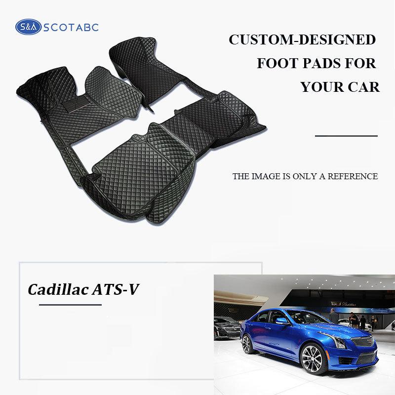 Cadillac ATS-V Floor  Mats  2016-present, Scotabc Custom Fit All-Weather Floor Mats