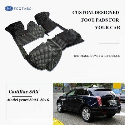 Cadillac SRX Floor Mats  2004-2016, Scotabc Custom Fit All-Weather Floor Mats