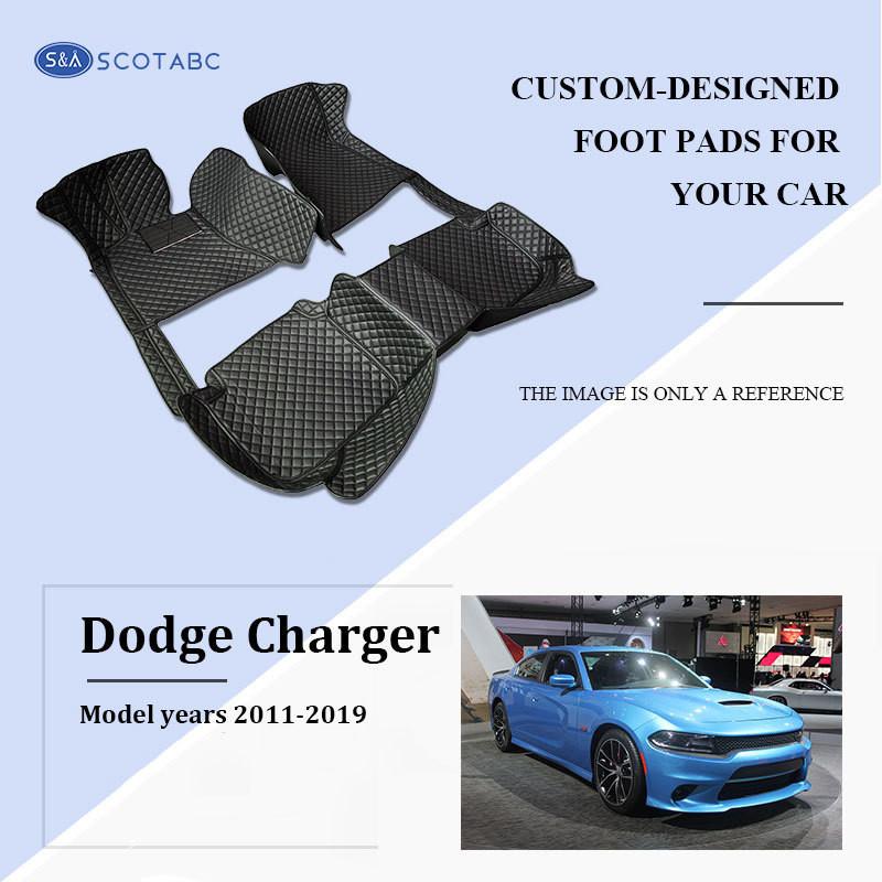 Dodge Charger Floor Mats 2011-2019, Scotabc Custom Fit All-Weather Floor Mats