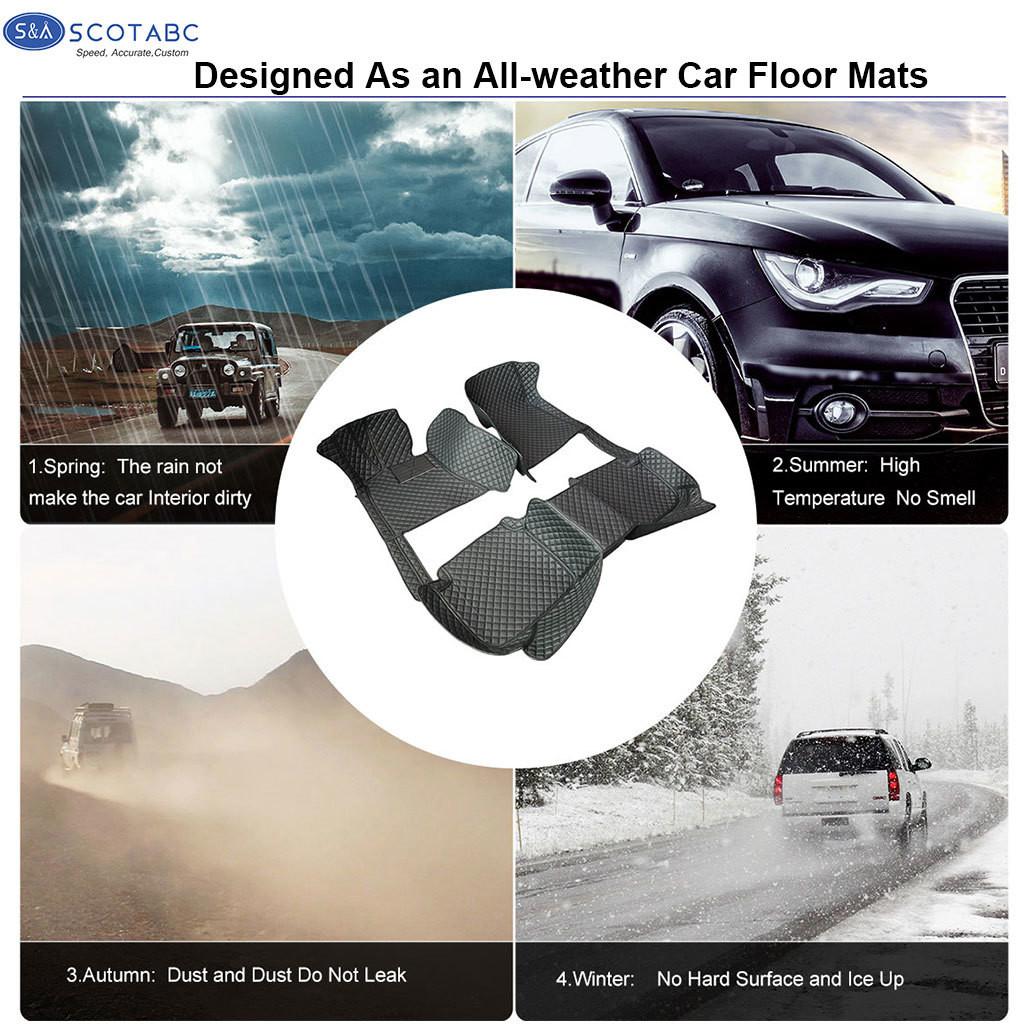 Custom-Fit Car Floor Mats for BMW X5 F15-2014-2018 Waterproof 3D Car Carpets