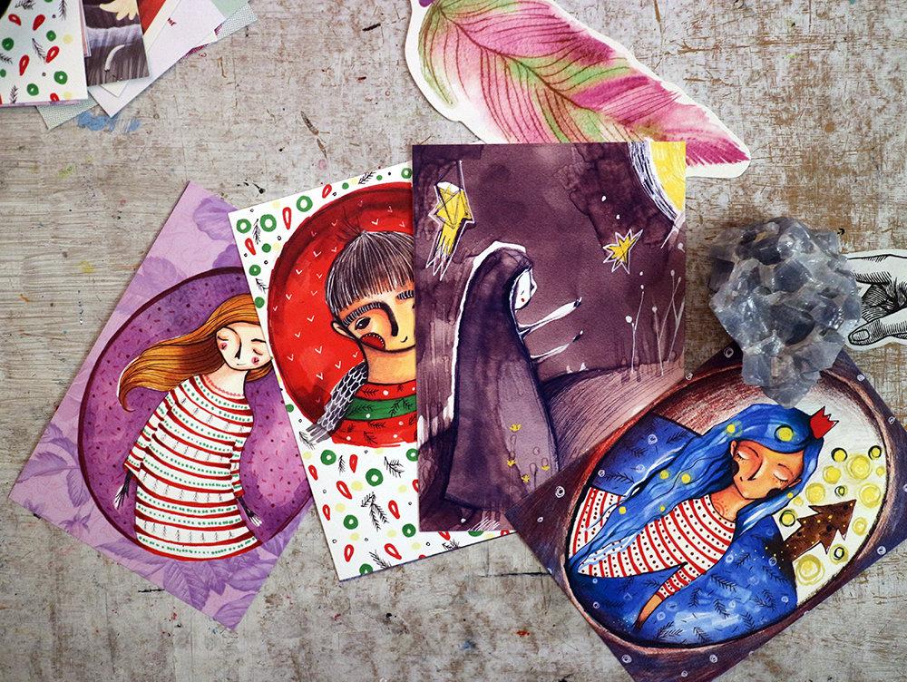 Vianočne, dušičkovo/ pohľadnice 00056