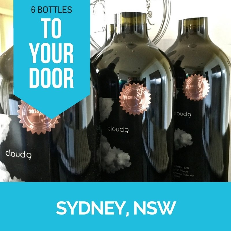 Sydney Metro Delivery - Cloud9 2010 Bordeaux Cabernet Franc - Carton (6 bottles) CLOUD9AUSSYD