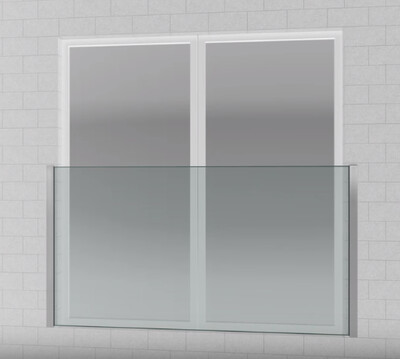 Semi-Framed Juliet - Easy Install - MAXIMUM WINDOW OPENING  1800mm