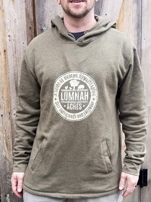 Lumnah Acres Unisex Hooded SweatShirt Military Green