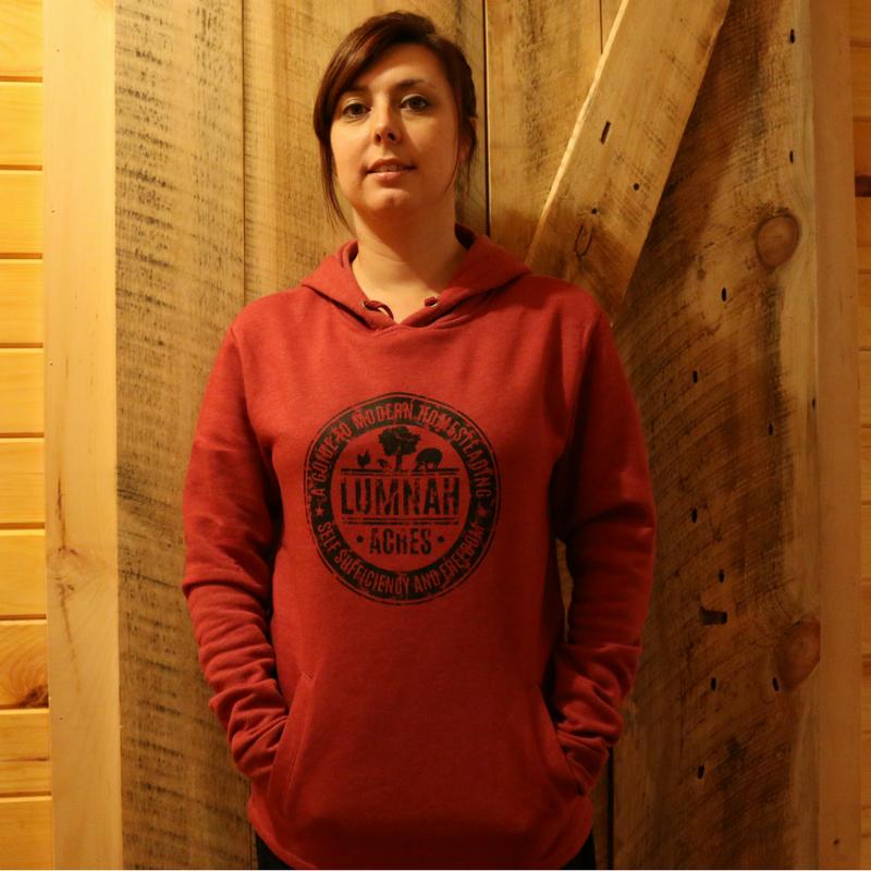 Lumnah Acres Unisex Hooded Sweatshirt Heather Red