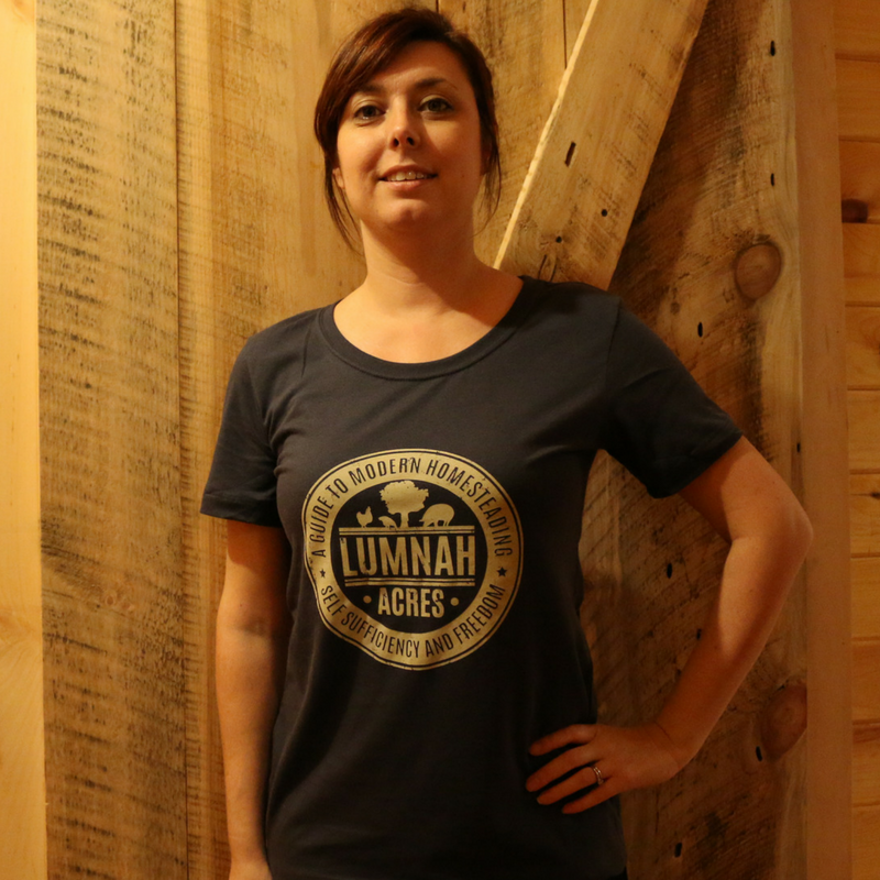 Lumnah Acres Womens Fitted T Shirt Indigo
