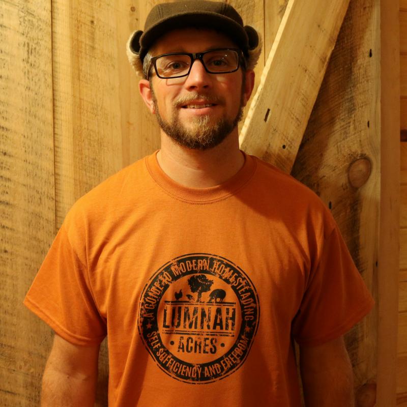 Lumnah Acres Men's T-shirt Burnt Orange 01