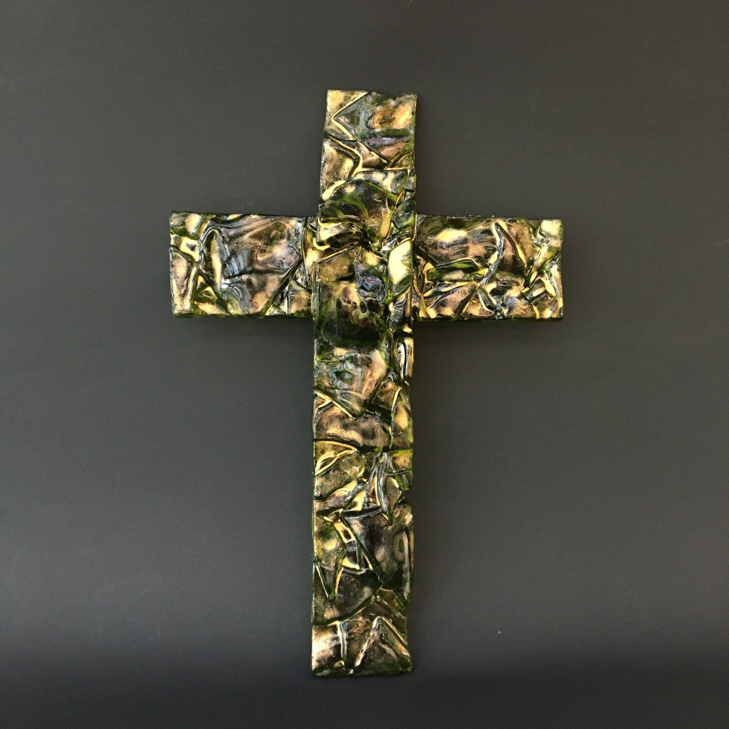 Green and Gold Latin Cross