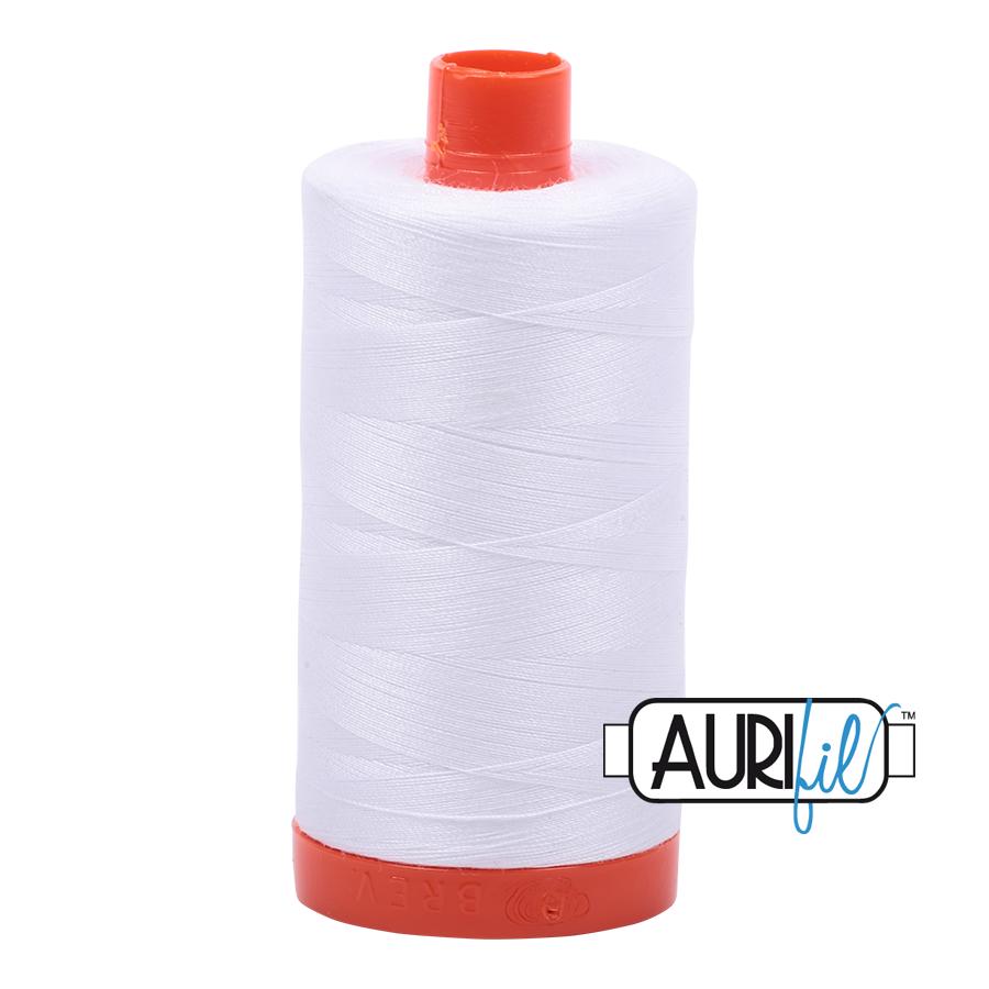 Col. # 2024 - White - Aurifil 50 weight MK50-1300-2024