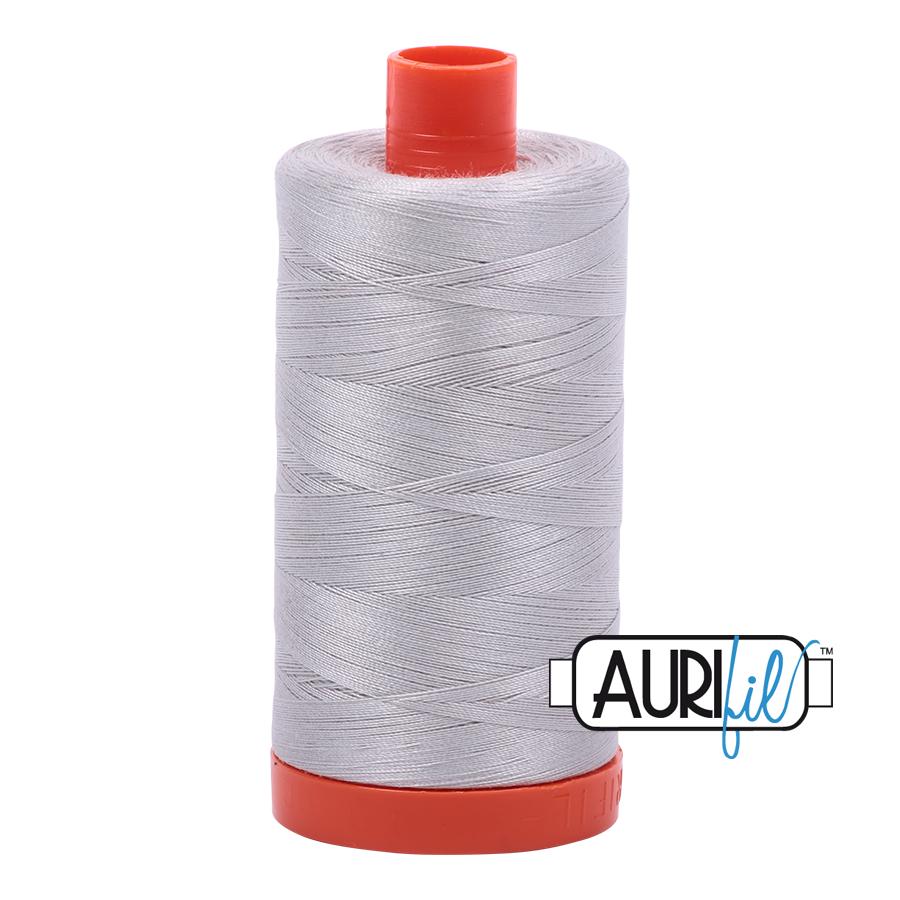 Col. # 2615 - aluminium - Aurifil 50 weight