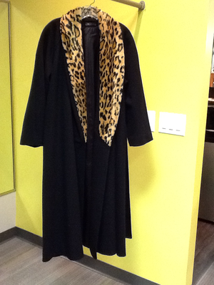 Vintage Long Wool Coat - Large