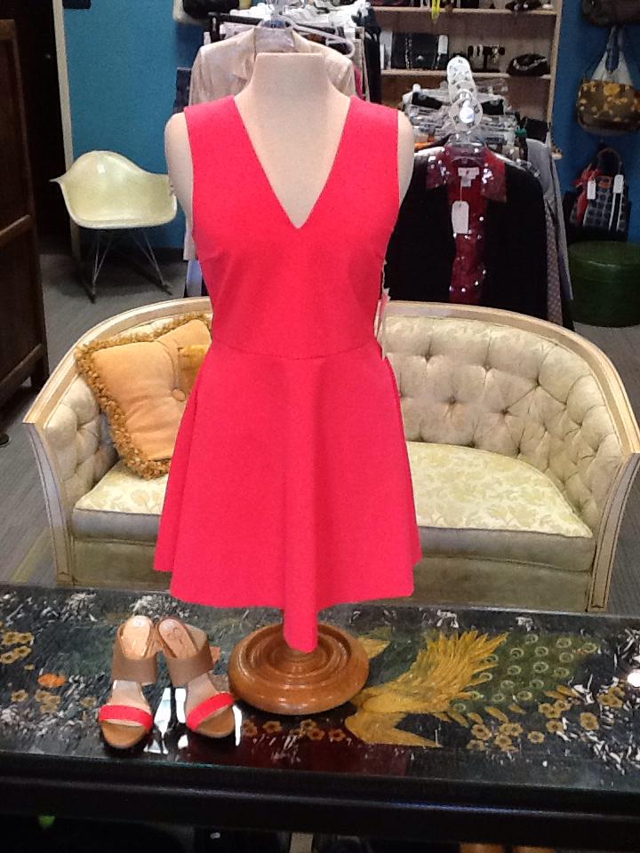 Bright Coral Dress - size L