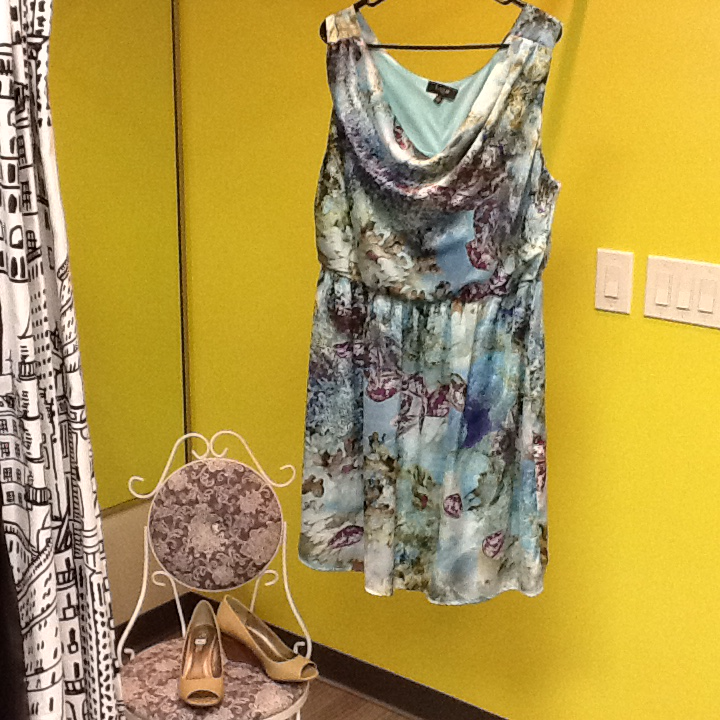 Aqua Lux Dress - 1X