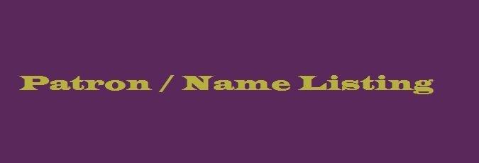 Patron / Name Listing