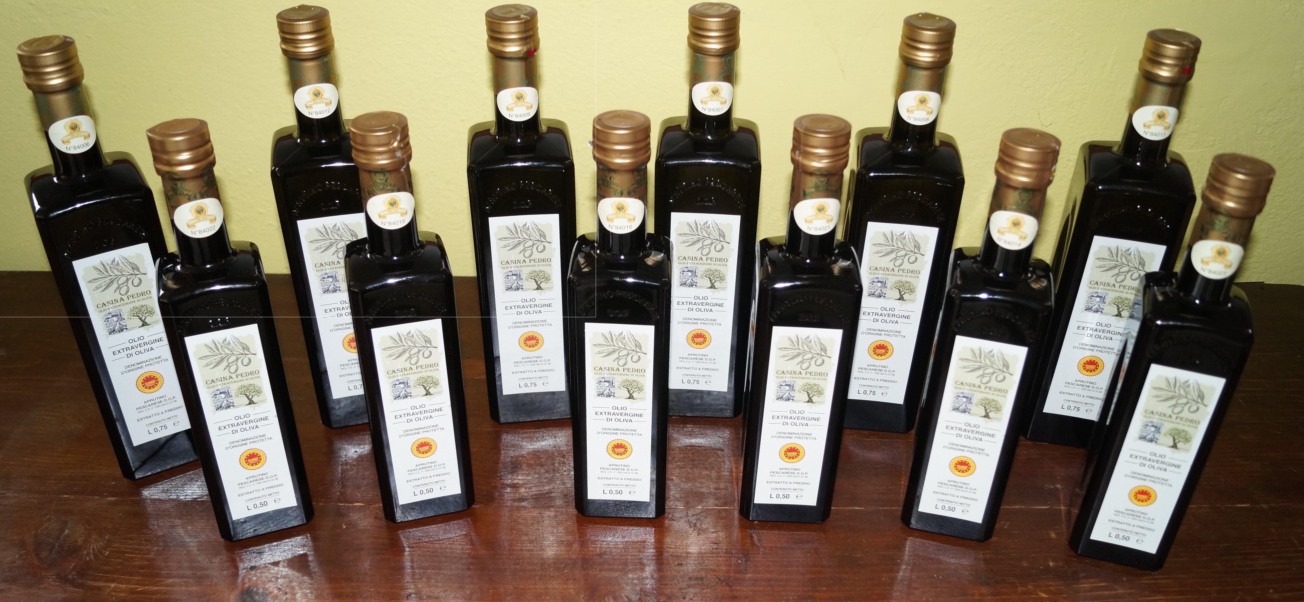 Olio Casina Pedro conf. Assortimento 06 Bottiglie da L.075 + 06 Bottiglie da L.050 00002