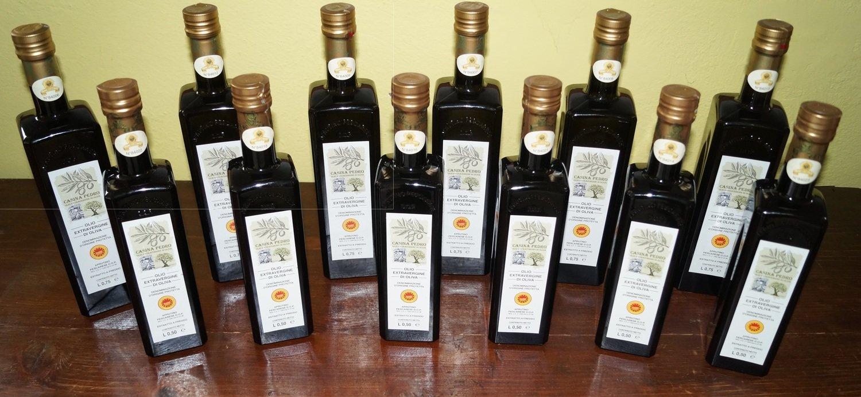 Olio Casina Pedro conf. Assortimento 06 Bottiglie da L.075 + 06 Bottiglie da L.050