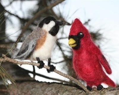 Winter Birds Needle Felting Kit