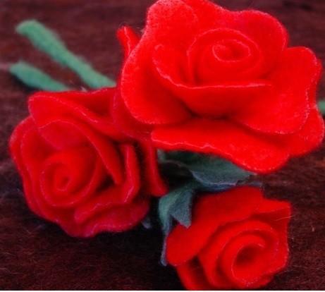 Felt A Rose