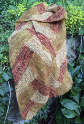 Entrelac Braided Scarf Pattern