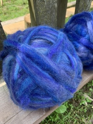 Alpaca Wool Roving - Blue Suede Shoes