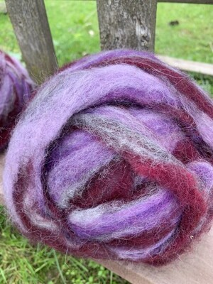 Alpaca Wool Roving - Blueberry Pie