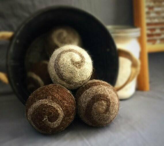 3 Ovella Wool Dryer Balls - Lixo Swirl Collection