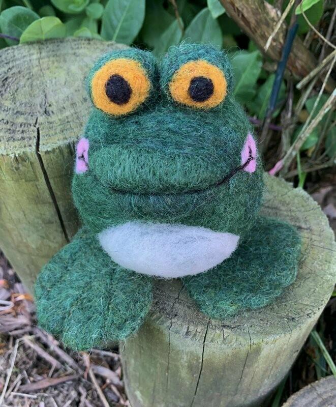 Needle Felted Bullfrog