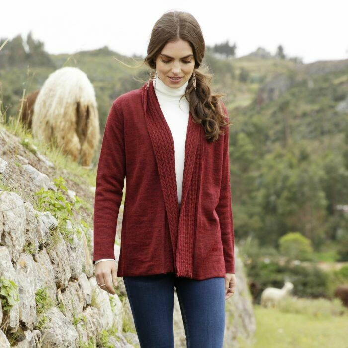 NEW Cable Shawl Collar Cardigan