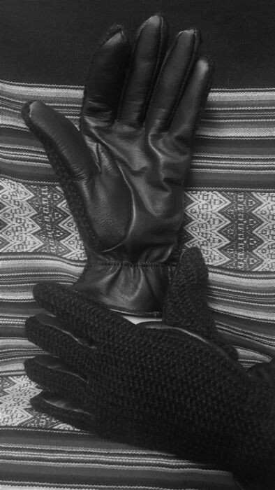 Leather Alpaca Driving Gloves